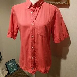 GAP mens medium modern oxford red shirt